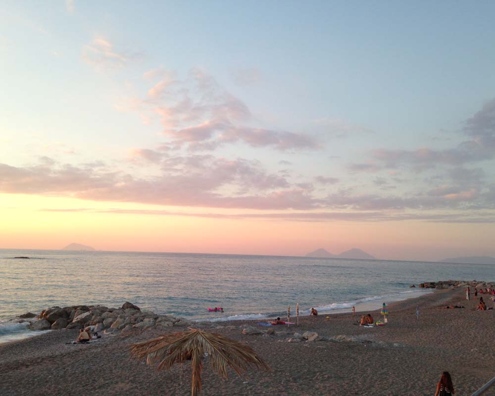 Capo d\'Orlando beach (in front of the house)